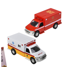 """The Toy Network:  5"""" Die Cast Pull Back Rescue Ambulance"""