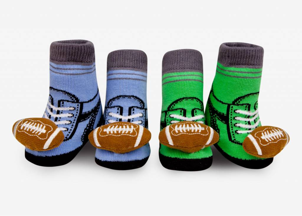 WADDLE WADDLE:  FOOTBALL RATTLE SOCKS