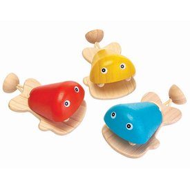 PLAN TOYS:  FISH CASTANET