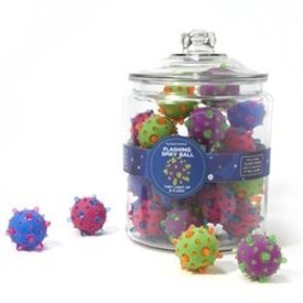 TWO'S COMPANY CUPCAKES AND CARTWHEELS:  SPIKEY LIGHT UP BALL (ASST)