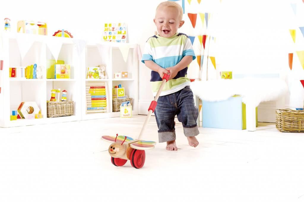 Hape HAPE:  Butterfly Push Toy