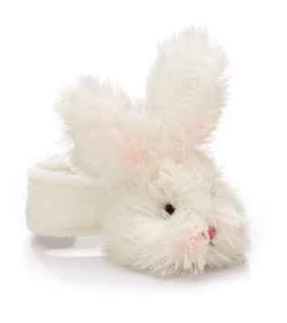 BUNNIES BY THE BAY: Bunny Rattle - White