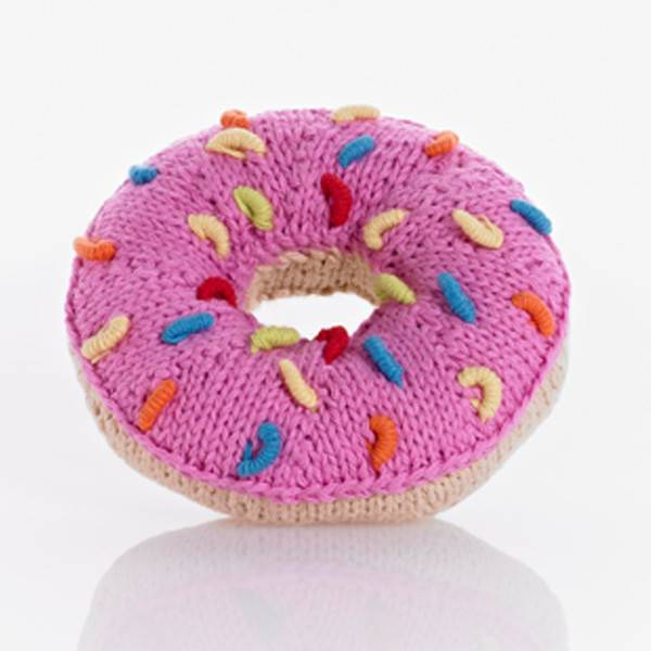 PEBBLE DONUT RATTLE (PINK)