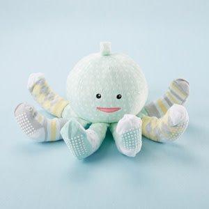BABY ASPEN: MINT SOCKTOPUS PLUSH AND SOCKS