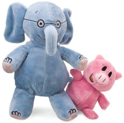 """Elephant 7"""" & Piggie 5"""" Soft Toys"""