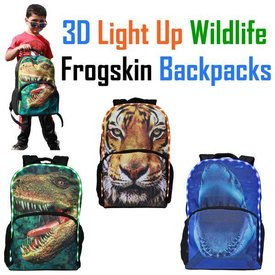 American Jewel: 3D Light up Backpack- SHARK