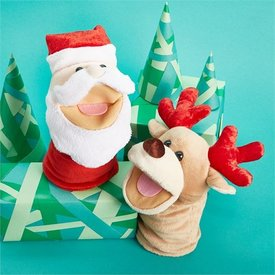 TWO'S COMPANY CUPCAKES AND CARTWHEELS:  JOLLY JINGLES HAND PUPPET (ASSORTED SANTA OR REINDEER)