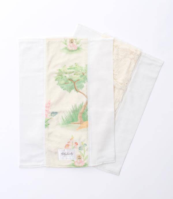 BABY LAUNDRY: BUNNY TALES BURPIE SET OF TWO