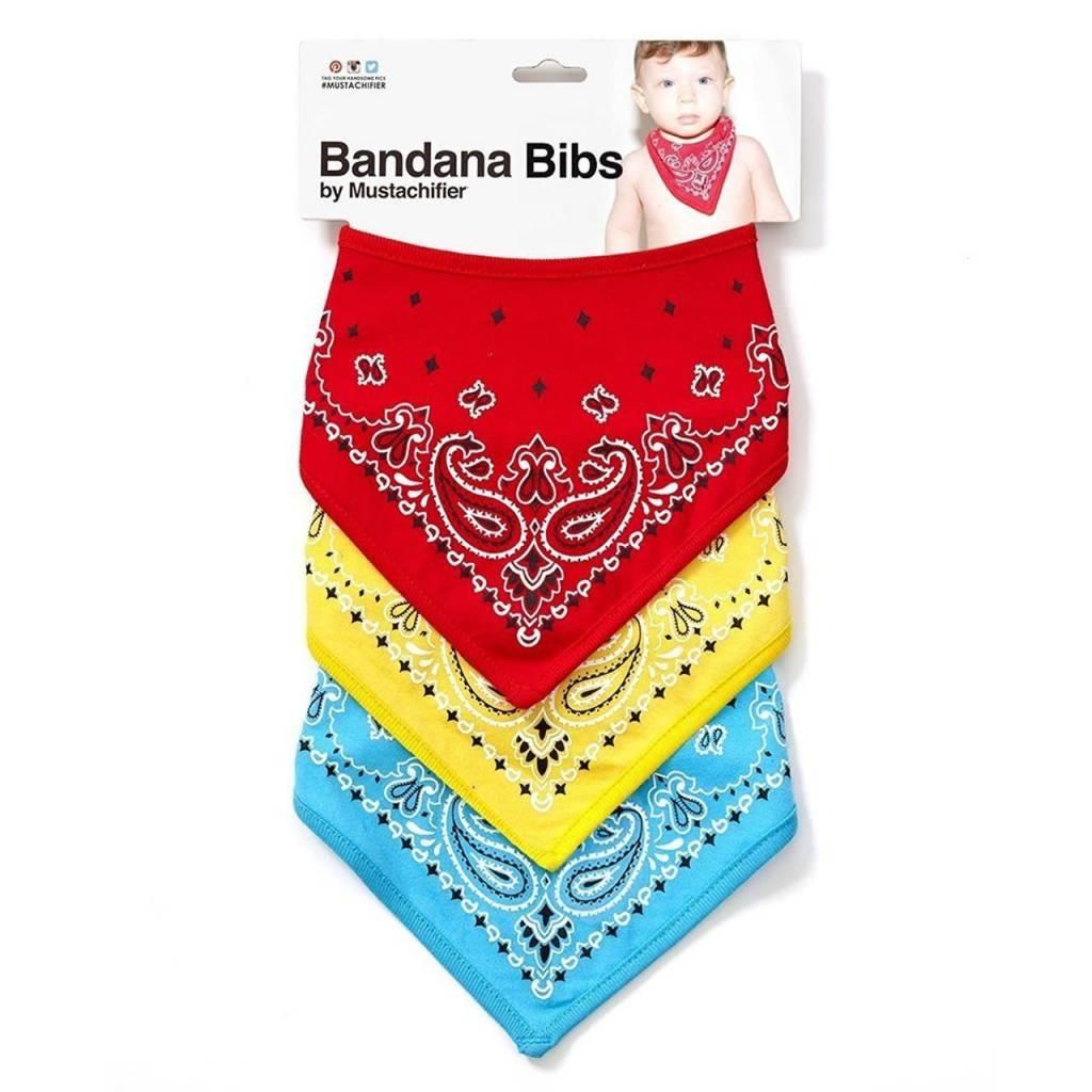 FCTRY FCTRY:  BANDANA BIBS - Bandana Bibs - Red, Yellow & Blue