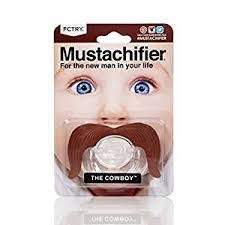 FCTRY FCTRY:  The Cowboy Mustache Pacifier - The Cowboy Mustachifier