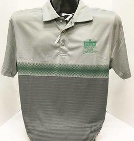 Cutter & Buck Gray W/Green Stripe Polo