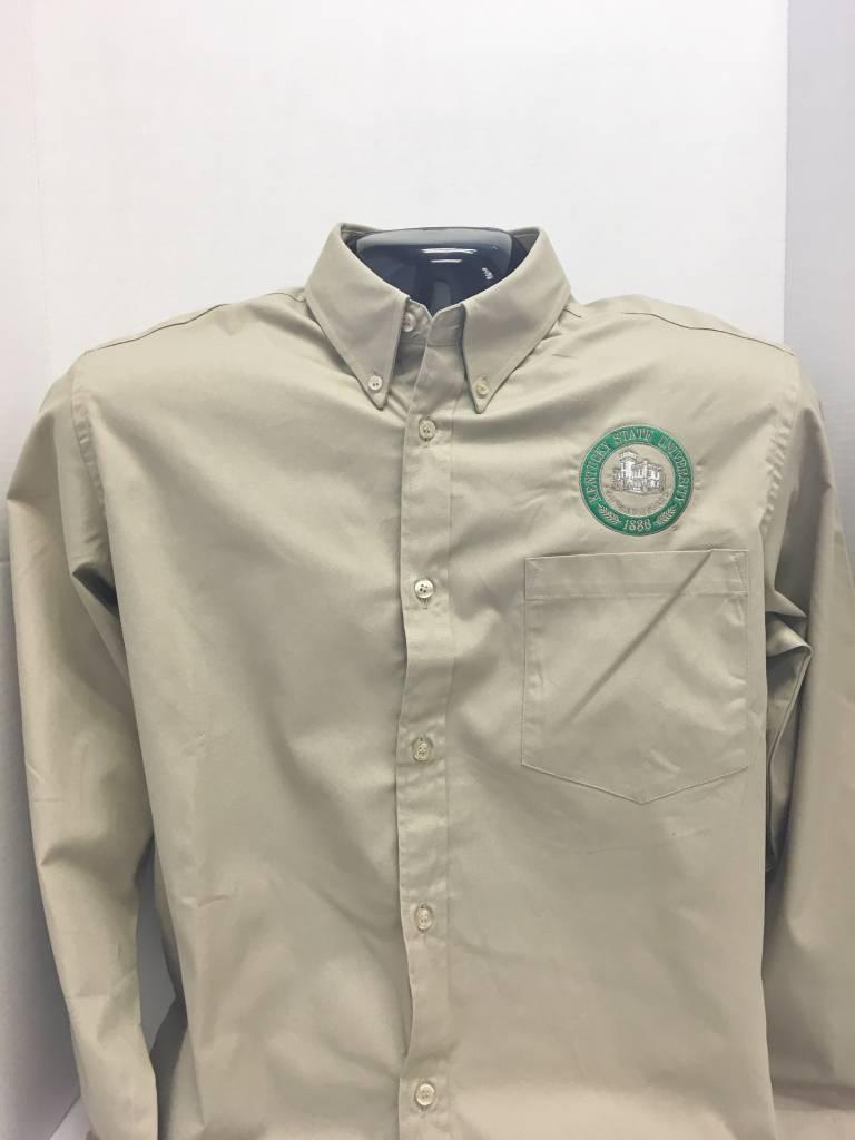 Cutter & Buck Long sleeve tan dress shirt