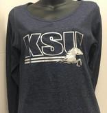 MV SPORTS Women's Foil Imprint Long Sleeve Shirt