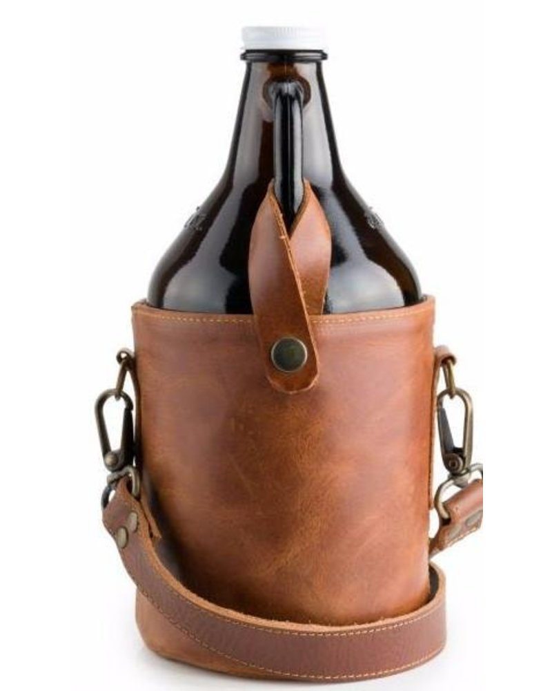 Brother's Leather C.W Growler & Bag