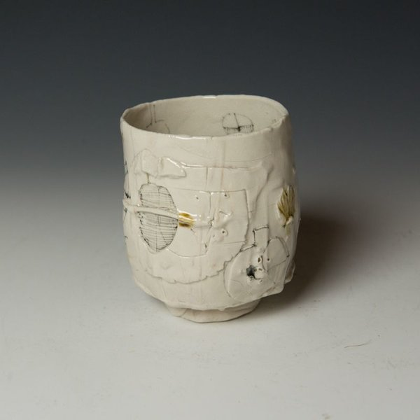 """Ted Saupe Ted Saupe,  Yunomi, porcelain, black stain, glaze, 4.5 x 3.75"""" dia"""