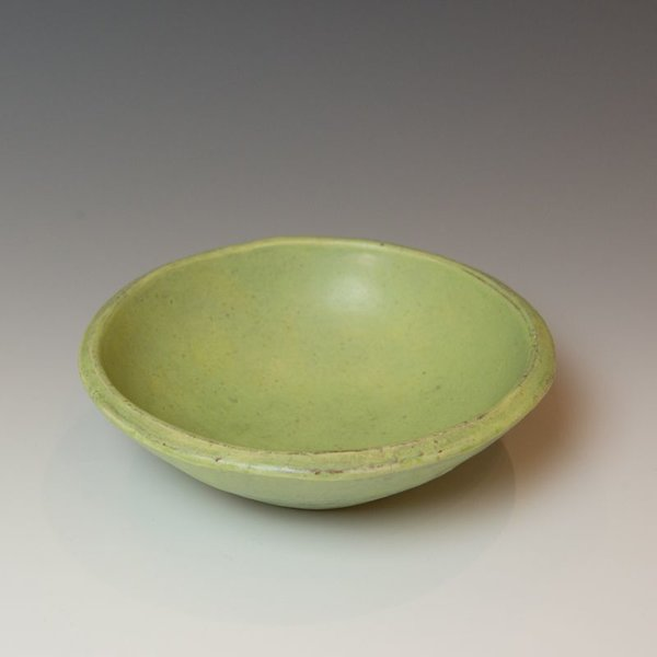 "Joe Pintz, Small Round Bowl, handbuilt earthenware, 2.25 x 7"" dia."