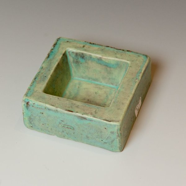 Joe Pintz Joe Pintz, Block Salt Cellar-Blue, handbuilt earthenware, 1.25 x 3 x 3""