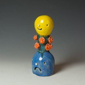Taehoon Kim Taehoon Kim, Yourself and Yours 9, clay, glaze, 8.5 x 3""