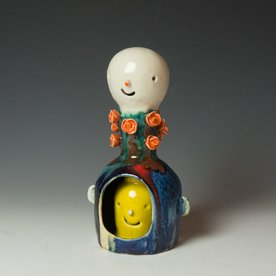 Taehoon Kim Taehoon Kim, Yourself and Yours 10, clay, glaze, 11 x 6 x 4.5""