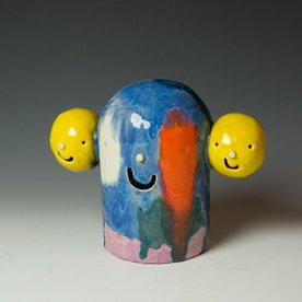 Taehoon Kim Taehoon Kim, Yourself and Yours 12, clay, glaze, 8.75 x 10.75 x 5""