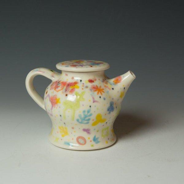 """Masa Sasaki Masa Sasaki, Princess Teapot, porcelain, glaze, 5.25 x 6.75 x 4.75"""""""