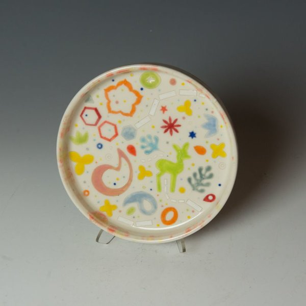 Masa Sasaki Masa Sasaki, Princess Plate, porcelain, glaze,