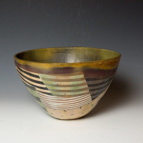 Barry Rhodes Barry Rhodes, Bowl, stoneware, slip, underglaze