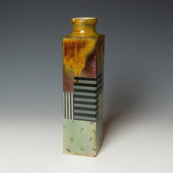 Barry Rhodes Barry Rhodes, Large Vase, stoneware, slip, underglaze