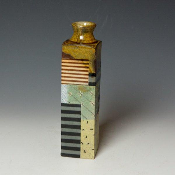 Barry Rhodes Barry Rhodes, Med Vase, stoneware, slip, underglaze