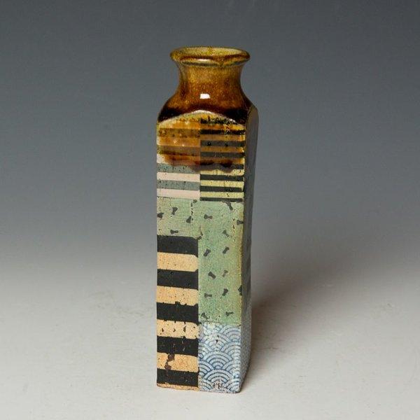 Barry Rhodes Barry Rhodes, Small Vase, stoneware, slip, underglaze