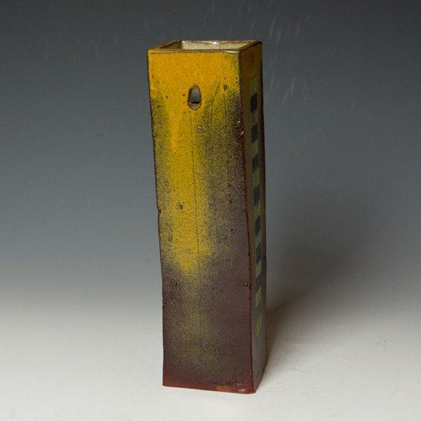 Barry Rhodes Barry Rhodes, Wall Hanging Vase, stoneware, slip, underglaze