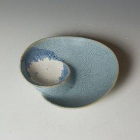 """Gwendolyn Yoppolo Gwendolyn Yoppolo, Medium Dish, porcelain, crystalline glaze, 2 x 7 x 6"""""""