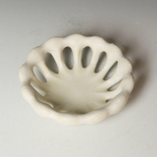 """Gwendolyn Yoppolo Gwendolyn Yoppolo, Bone Bowl, porcelain, crystalline glaze, 3 x 5 x 5"""""""