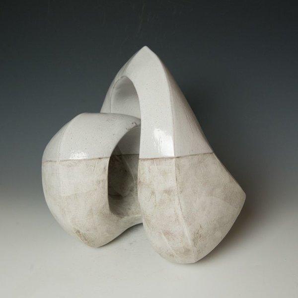"Jerilyn Virden Jerilyn Virden, Recoil, handbuilt earthenware, 10.5 x 14 x 13"""