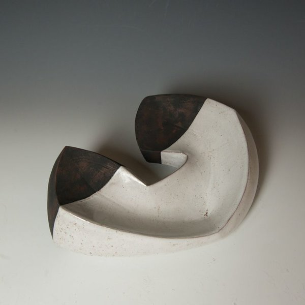 "Jerilyn Virden Jerilyn Virden, Bent Hollow 1, handbuilt earthenware, 5 x 14 x 10.5"""