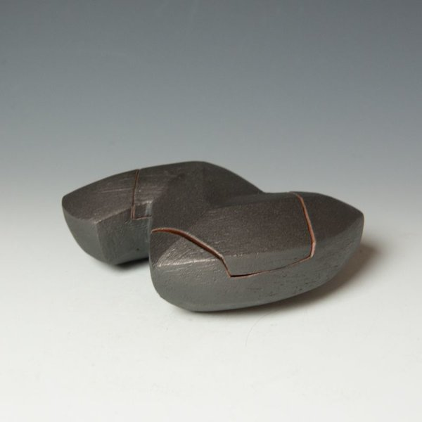 Jerilyn Virden Jerilyn Virden, Box, handbuilt earthenware, 3 x 8 x 6""