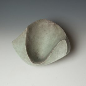 Jerilyn Virden Jerilyn Virden, Facet Bowl, handbuilt earthenware, 4.5 x 10 x 10""
