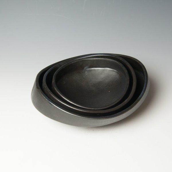 """Jerilyn Virden Jerilyn Virden, Oval Nesting Bowl, handbuilt earthenware, 4 x 10.5 x 9.5"""""""