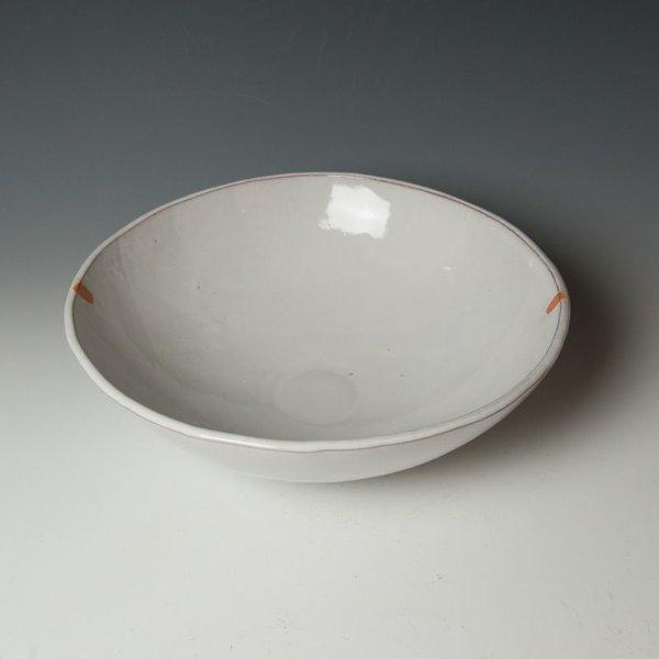 "Jerilyn Virden Jerilyn Virden, Large Mixing Bowl, handbuilt earthenware, 4  x 13.5"" dia"