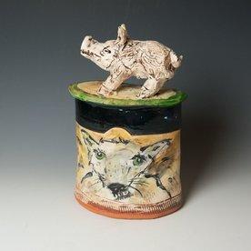 "Ron Meyers Ron Meyers, Hog Jar, 14.25 x 9 x 5.75"""