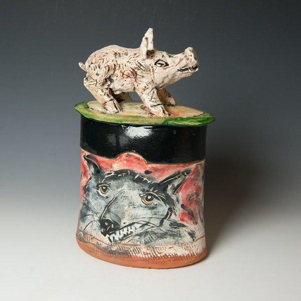 "Ron Meyers, Hog Jar, 14.25 x 9 x 5.75"""
