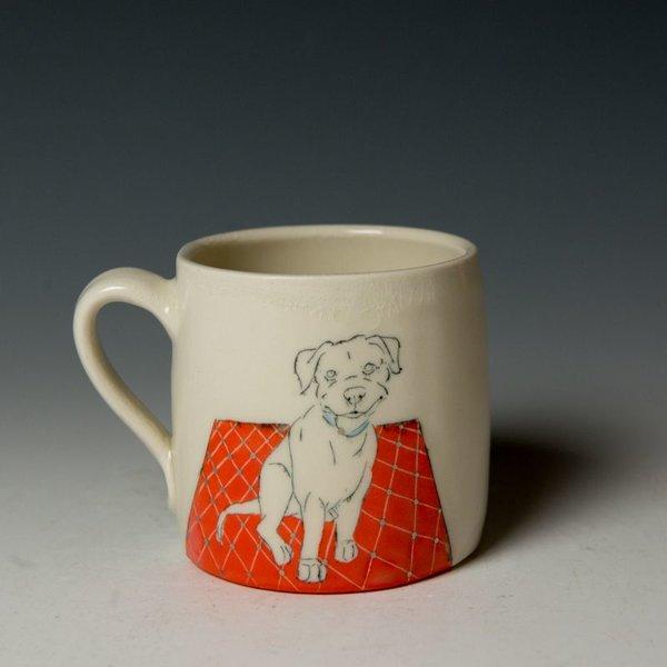 """Stephanie Wilhelm Stephanie Wilhelm, Pit Mug, porcelain, gold luster, 3.5 x 3.5"""""""