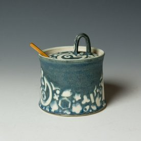 "Masa Sasaki Masa Sasaki, Shiro Kuro Sugar Box, porcelain, glaze, 5 X 5.25""dia"