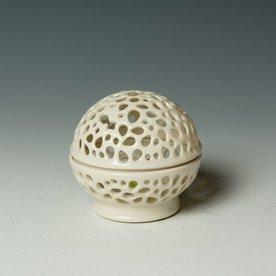 """Masa Sasaki Masa Sasaki, Tea Candle, porcelain, glaze, 3.25 x 3.5"""" dia"""