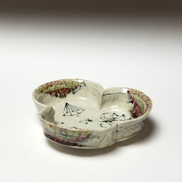 Ted Saupe Ted Saupe, Three Bowl, porcelain, 1.75 x 6.5 x 7""
