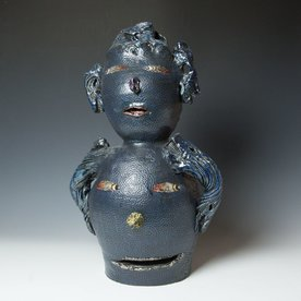"Andy Nasisse Andy Nasisse, Double Head Vase, 22 x 13 x 10"""