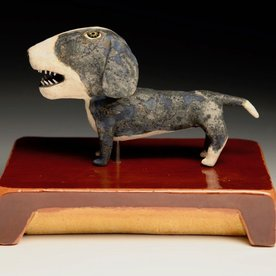 """Wesley Anderegg Wesley Anderegg, Dog, earthenware, glaze,  4.25 x 4 x 4"""""""