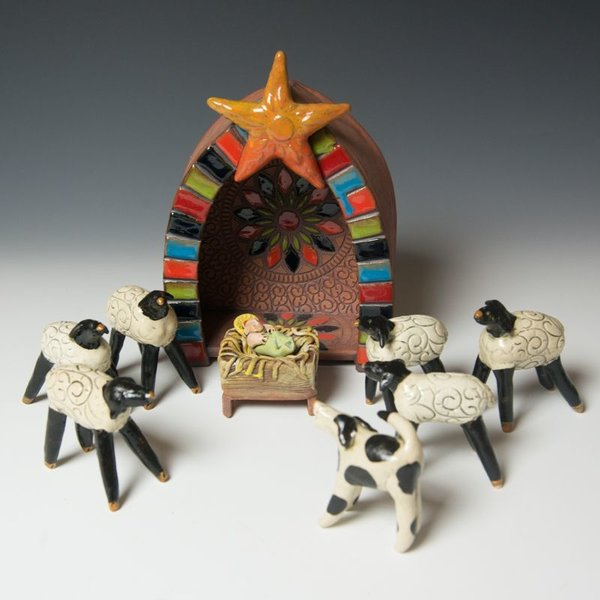 Barry Gregg Barry Gregg, Nativity, handbuilt earthenware, glaze