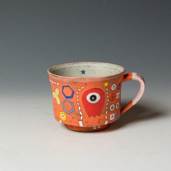 "Masa Sasaki Masa Sasaki, One Eyed Alien Mug, porcelain, glaze, 3.5 x 5 x 4"""