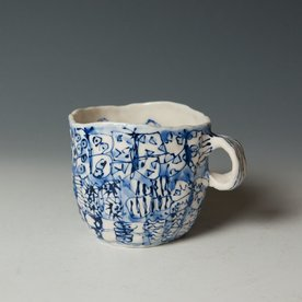 "Keok Lim Keok Lim, Cup, porcelain, 4 x 4.75 x 4.5"""